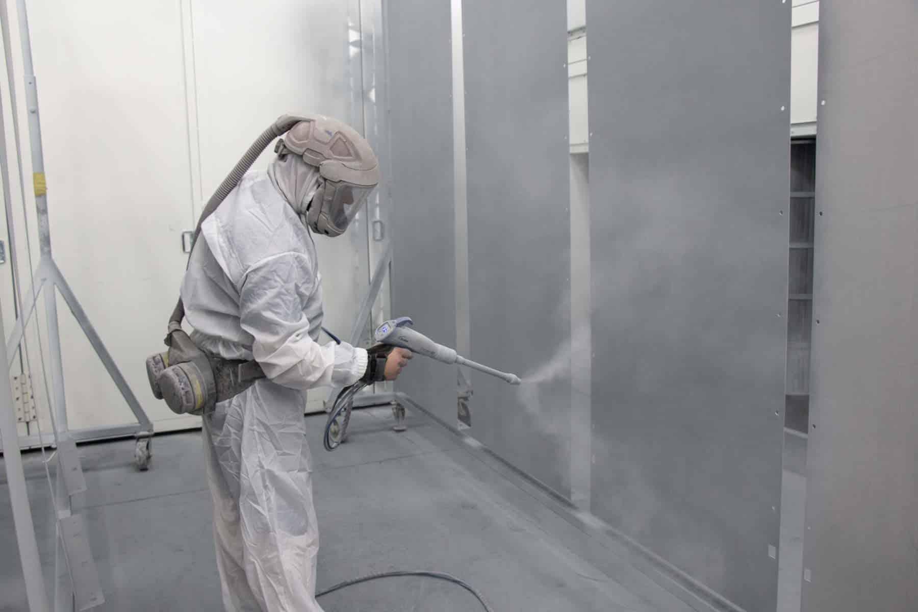 Powder coating metal process extends lifespan of metal enclosures